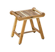 EcoDecors SensiHarmony™ 20 inch Teak Shower Stool Bench With LiftAide Arms
