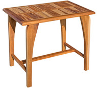 EcoDecors Tranquility Teak Dining Table Indoor & Outdoor 35in Length