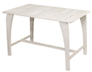 Coastal Vogue Tranquility Teak Dining Table Indoor & Outdoor 47in Length