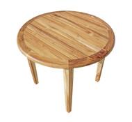 EcoDecors Oasis Round Teak Dining Table Indoor & Outdoor 36in Diameter