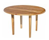 EcoDecors Oasis Round Teak Dining Table Indoor & Outdoor 48in Diameter