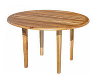 EcoDecors Indoor Outdoor Teak Oasis™  Round Dining Table - 48 inch Diameter