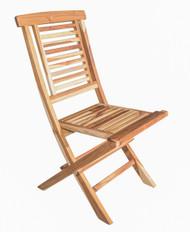 EcoDecors Indoor & Outdoor Teak Dining Folding Chair