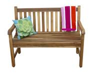 EcoDecors 47 in L Hampstead Heath Solid Teak Outdoor Garden Bench