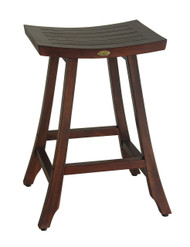 DecoTeak Satori™ Indoor Outdoor Teak Bar Stool - 30 inch Height