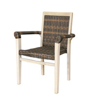 Copy of EcoDecors Indoor & Outdoor Teak And Viro Rattan Stacking Dining Chair