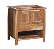 EcoDecors Tranquility Natural 30in Solid Teak Vanity in Natural Teak