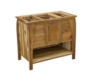 EcoDecors Tranquility 36 in. L Teak Vanity in Natural Teak