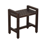 Espalier™ 20 in Lattice Teak Shower Stool with Arms- DT111