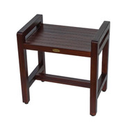 Eleganto™ 18 in Teak Shower Stool Chair with LiftAide Arms- DT107