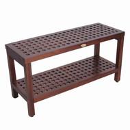 decoteak dt159 espalier grate teak shower bench
