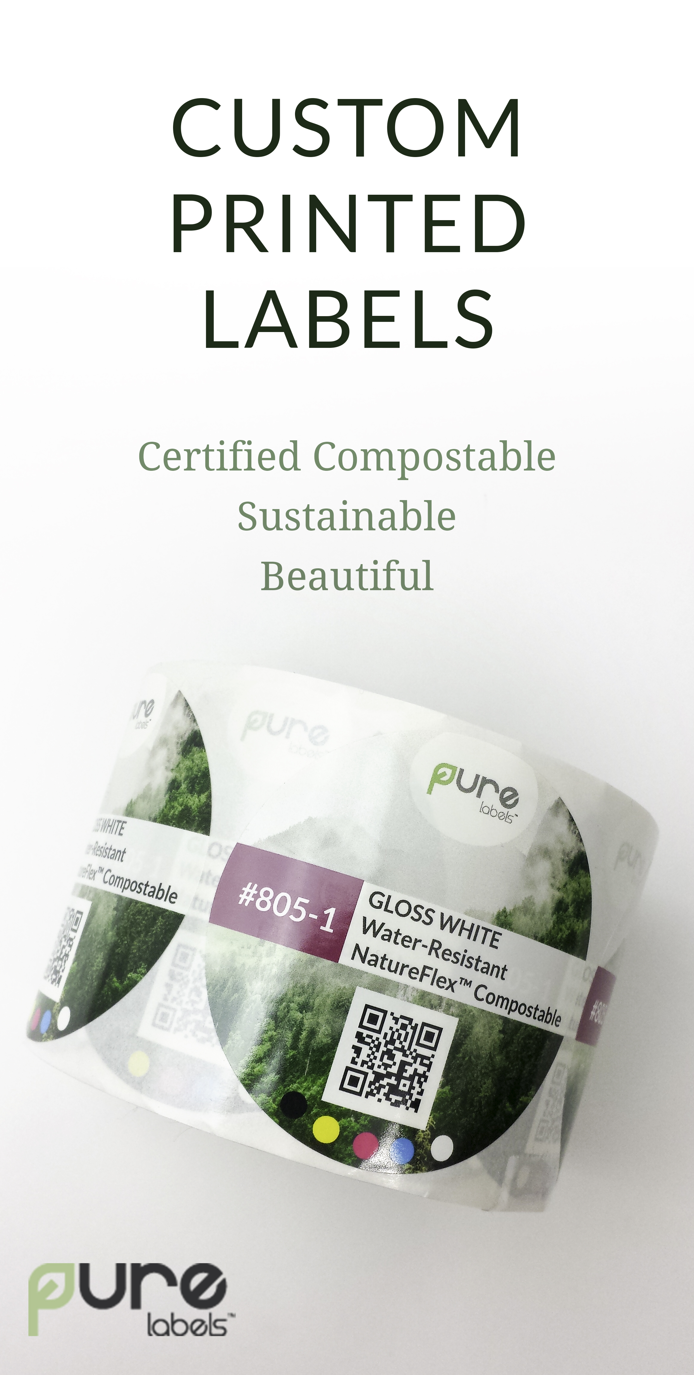 PURE Labels ecofriendly labels with compostable adhesive