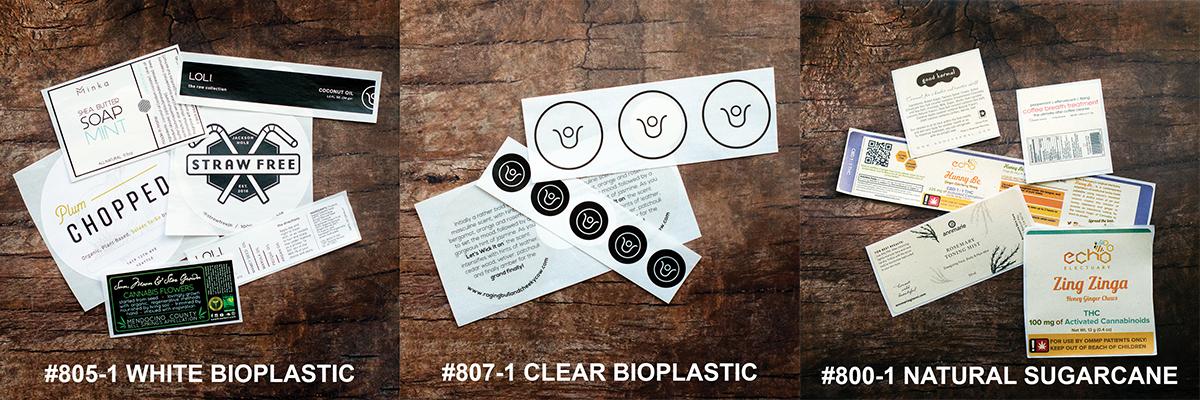 custom printed label samples