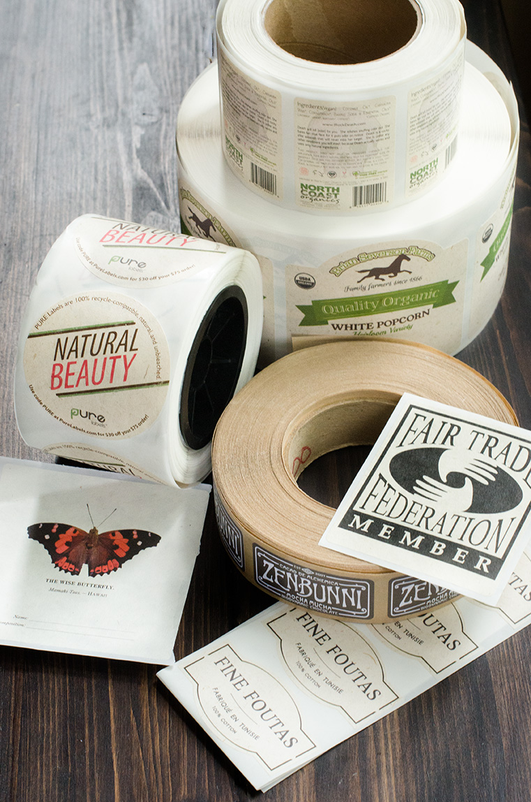 PURE Labels compostable and recycled labels