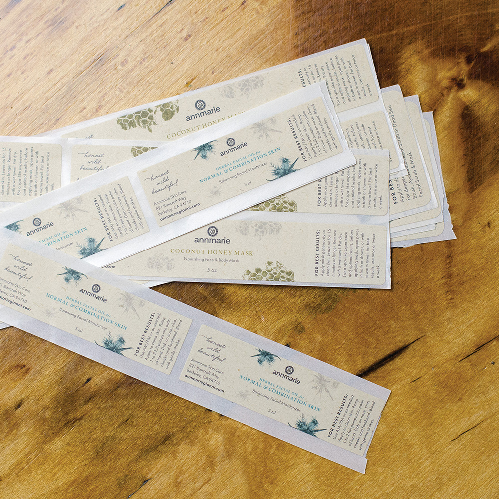 Custom Printed Compostable Sugarcane Labels