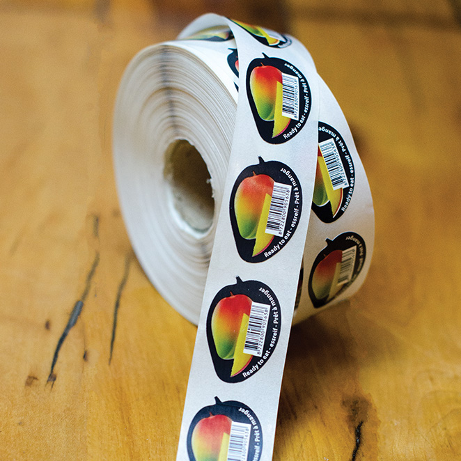 Custom Printed Compostable Bioplastic Fruit Stickers