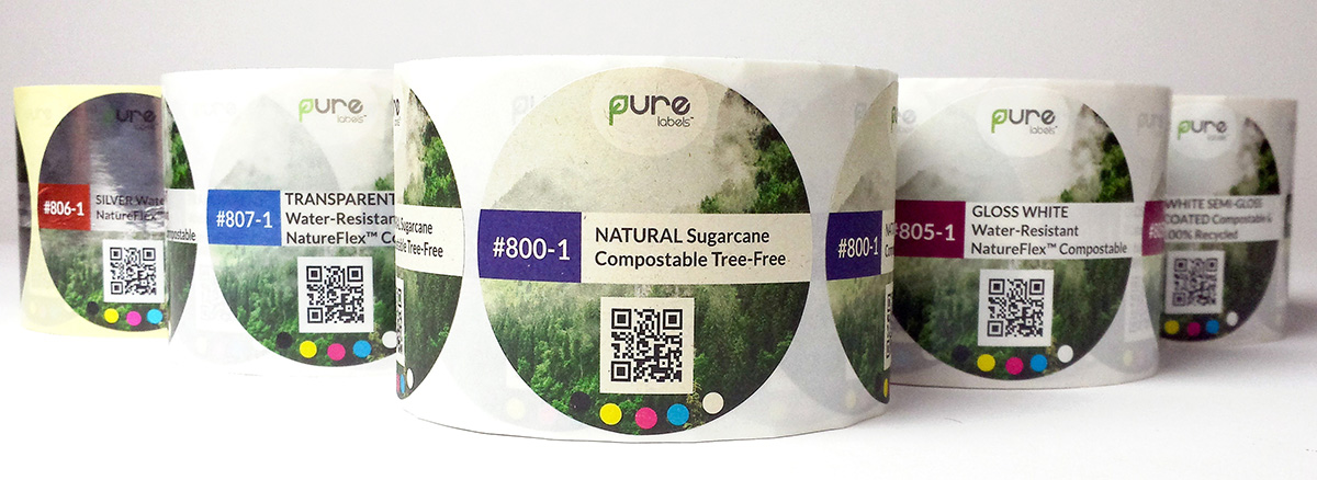 Custom Printed Eco-Friendly Labels