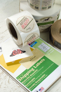 PURE Labels Custom Printed and Bank Eco-Friendly Labels