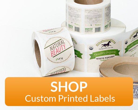 Ecofriendly labels custom printed