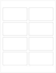 "3.75"" x 2"" Rectangle Labels, Blank [25 Sheets/200 Labels]"