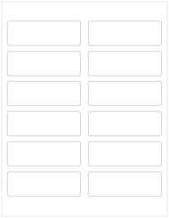 "3.75"" x 1.25"" Rectangle Labels, Blank [25 Sheets/300 Labels]"