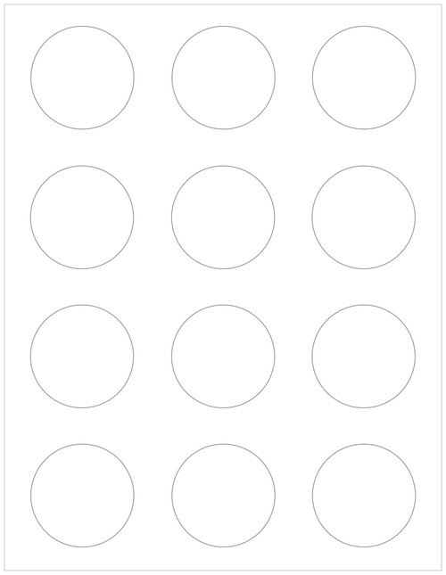 "compostable or recycled 2"" circle labels, white"
