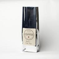 "1lb NO VALVE (12-16 oz)  3.5"" X 2.5"" X 13"" 100% Compostable Coffee Bag - Silver - Side Gusset [250 Bags]"