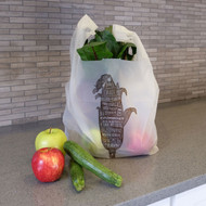 Compostable T-Sack Shopping Bag, Corn, SUPER STRONG 1.0 MIL Thick [500 Bags]