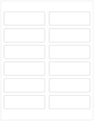 "3.75"" x 1.25"" Recycled Rectangle Labels, Blank [25 Sheets/300 Labels] CLOSEOUT"