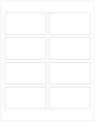 "3.75"" x 2"" Recycled Rectangle Labels, Blank [25 Sheets/200 Labels] CLOSEOUT"