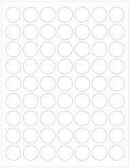"""White compostable or recycled 1"""" circle labels sheets"""