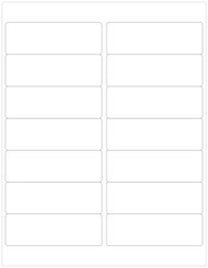 "4"" x 1.33"" Rectangle Labels, Blank [25 Sheets/350 Labels] [MISCUT]"