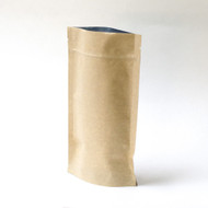Kraft 8oz Compostable Stand Up Pouch - [100 Bags]