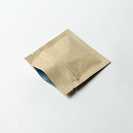 "3 x 3"" Kraft Compostable Flat Pouches"