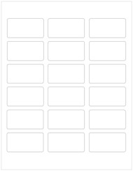 "2.375"" x 1.25"" Clear Rectangle Labels, Blank [25 Sheets/450 Labels] [Faulty]"