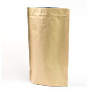 16oz Kraft Compostable Stand Up Pouch with Valve