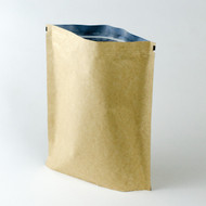 3lb Kraft Compostable Stand Up Pouch with Valve