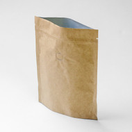 4oz Kraft Compostable Stand Up Pouch with Valve