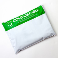"12 x 15.5"" White Compostable Mailers"