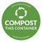 Compostable Sticker - Compost This Container