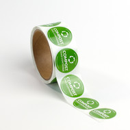 """1.5"""" Compostable Container Stickers"""