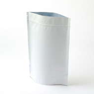 8oz White Compostable Stand Up Pouches