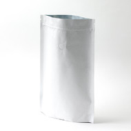 12oz White Compostable Stand Up Pouch with Valve