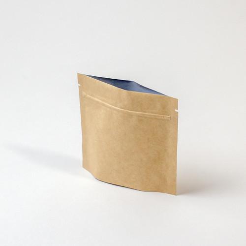 1oz Compostable Kraft Zipper Pouch