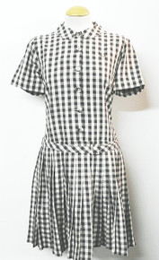 Classic Gingham Dress - Ebony Mist