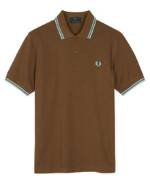 Made in England Twin Tipped Polo - Chocolate / Ice / Ice