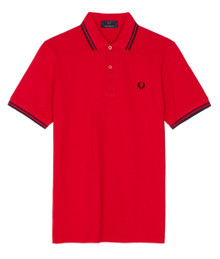 Made in England Twin Tipped Polo - Red / Black / Black