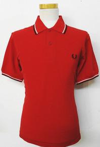 Made in England Twin Tipped Polo - Red / White / Black