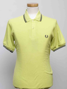 Original Twin Tipped Polo Shirt - Citron Green / Navy / Navy