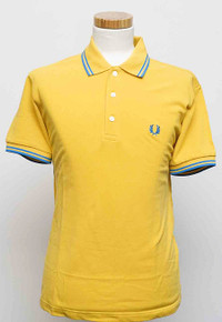 Japanese Twin Tipped Polo - Maize / Kingfisher